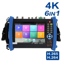 7 Inch All in One 1080p Retina Display IP Camera Tester Security CCTV Tester Monitor with SDI/TVI/AHD/CVI/POE/WIFI/4K H.265/HDMI In&Out/R45 TDR/Firmwa