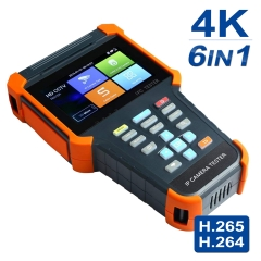 Upgraded 4 Inch 5 in 1 IPS Touch Screen IP Camera Tester Security CCTV Tester Monitor with TVI/AHD/CVI/POE/WIFI/4K H.265/1080p HDMI In/RJ45 X4-ADHS
