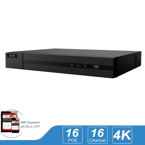 Anpviz HK series 16 Channel POE NVR ( 16CH 720p/1080p/3MP/4MP/5MP/6MP/8MP/4K)  ) Network Video Recorder - Supports 4K (8-Megapixels), ONVIF Compliance, USB Backup, Supports up to 12TB HDD (No Included)( USA Updated Firmware) Compatible Hikvision IVMS4200